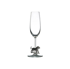 Carved Pewter Lion Champagne Flute | Menagerie | M-CHL1-073