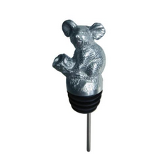 Stainless Steel Carved Koala Wine Pourer - Aerator | Menagerie | M-SSPK2-157