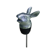 Stainless Steel Carved Rabbit Wine Pourer - Aerator | Menagerie |