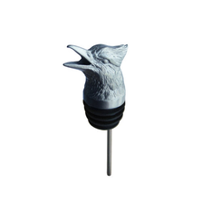 Stainless Steel Carved Blue Jay Wine Pourer - Aerator | Menagerie