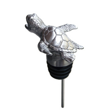 Stainless Steel Carved Sea Turtle Wine Pourer - Aerator | Menagerie | SSPS16-167