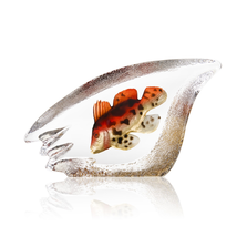 Coral Fish Orange Crystal Sculpture | 34298 | Mats Jonasson Maleras