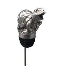 Stainless Steel Carved Sea Turtle Wine Pourer - Aerator | Menagerie |