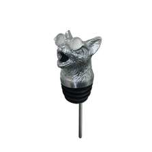 Stainless Steel Carved Cool Cat Wine Pourer - Aerator | Menagerie | M-SSPC14-190