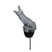 Stainless Steel Carved Crocodile Wine Pourer - Aerator | Menagerie | M-SSPC15-191