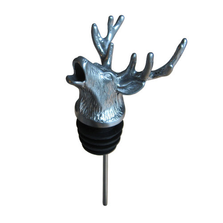 Stainless Steel Carved Elk Wine Pourer - Aerator | Menagerie | M-SSPE3-064