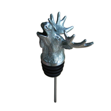 Stainless Steel Carved Moose Wine Pourer - Aerator | Menagerie | M-SSPM1-065