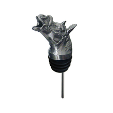 Stainless Steel Carved Moose Wine Pourer - Aerator | Menagerie | M-SSPR8-209