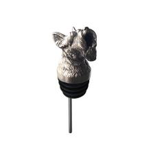 Stainless Steel Carved Bull Dog Wine Pourer - Aerator | Menagerie | M-SSPT6-216