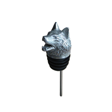 Stainless Steel Carved Bull Dog Wine Pourer - Aerator | Menagerie | M-SSPW3-124