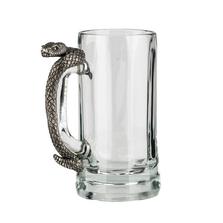 Fine Pewter Carved Rattlesnake Beer Mug | Menagerie | MBM-R2001