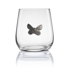 Butterfly Stemless Wine/Cognac Glass Set of 2 | Menagerie | M-SRWB6-117