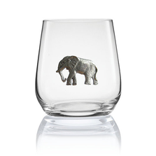 Elephant Stemless Wine/Cognac Glass Set of 2 | Menagerie | M-SRW1-EL058