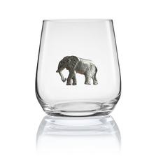 Elephant Stemless Wine/Cognac Glass Set of 2 | Menagerie | M-SRW1-EL058