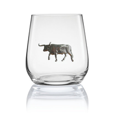 Longhorn Stemless Wine/Cognac Glass Set of 2 | Menagerie | M-SRW1-LH068
