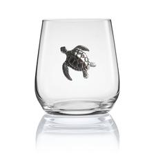 Sea Turtle Stemless Wine/Cognac Glass Set of 2 | Menagerie | M-SRWS92-404