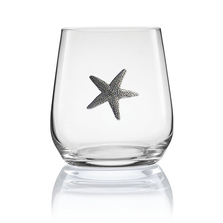 Starfish Stemless Wine/Cognac Glass Set of 2 | Menagerie | M-SRWS94-406