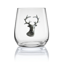 Stag Head Stemless Wine/Cognac Glass Set of 2 | Menagerie | M-SRW1-SH053
