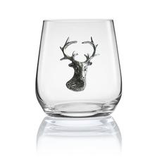 Stag Head Stemless Wine/Cognac Glass Set of 2 | Menagerie | M-SRW1-SH053