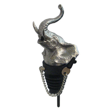 Stainless Steel Carved Elephant Whiskey/Spirits Pourer - Aerator | Menagerie | M-MWSP-E0581