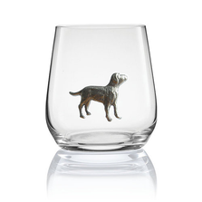 Labrador Stemless Wine/Cognac Glass Set of 2 | Menagerie | M-SRW1-LA066