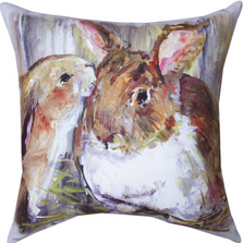 Bunny Trail Francis & Florence Throw Pillow   SLBTFL