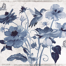 Colibri Blue Hummingbird and Butterflies Poly Throw Blanket | SACEFV
