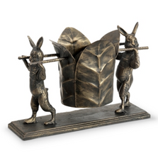 Pair of Rabbits Wine Holder | 51145 | SPI Home