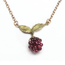 Raspberry Chain Necklace Silver | Michael Michaud Jewelry | SS7535bzgn -2