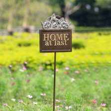 Cat and Kitten Home At Last Garden Sign | 34953 | SPI HOME