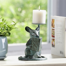 Reading Mouse Pillar Candleholder | SPI Home | 64051