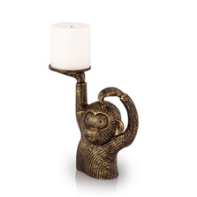 Monkey in Sweater Pillar Candleholder | 53047 | SPI Home