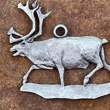 Reindeer Pewter Ornament | Andy Schumann | SCHREINDEERORN