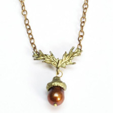Acorn Chain Necklace | Michael Michaud Jewelry | SS7555bzbp
