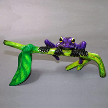 """Frog Bronze Sculpture """"Hang In There!"""" 