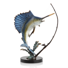 Sailfish Feeding Frenzy Sculpture | 80257 | SPI Home