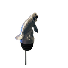 Stainless Steel Carved Moose Wine Pourer - Aerator | Menagerie | M-SSPM1-Manatee