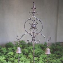 Fleur de Lis Garden Bell Stake | MWWIMIJGS | Manual Woodworkers