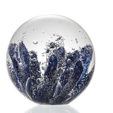 Blue Coral Art Glass Sphere Paperweight | 83063