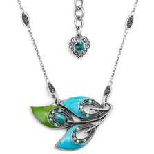 Peacock Feather Pendant Necklace  | Nature Jewelry | NK-9832-BG