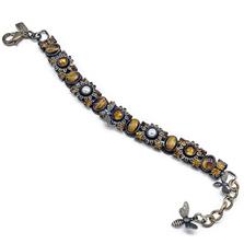 Sunflower and Bee Bracelet | La Contessa Jewelry | LCBR9012-XG-TOP