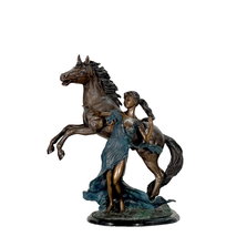 'Far and Away' Lady Beside Horse | Metropolitan Galleries | SRB48779