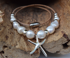 Sterling Starfish and Pearl Necklace | Nature Jewelry | CTD-N109