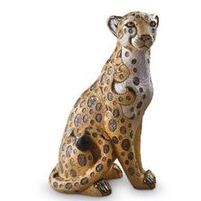 Limited Edition Sitting Cheetah Ceramic Figurine | De Rosa | Rinconada | DER471