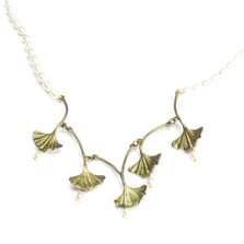 Gingko Necklace | Michael Michaud Jewelry | SS7710bzwp -3