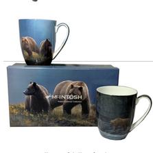 Bear Bone China Mug Set of 2 | McIntosh Trading Bear Mug | Robert Bateman Bear Mug Set