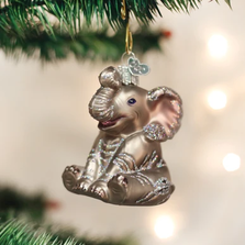 Little Elephant Glass Ornament | OWC12157