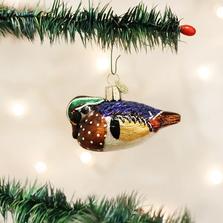 Wood Duck Glass Ornament | 12046