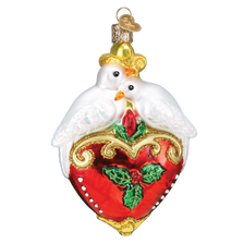 Two Turtle Doves Glass Ornament | OWC16135