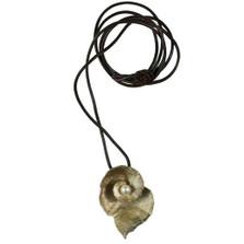 Spiral Geranium Pendant on Black Cord | Michael Michaud Jewelry | SS7770BZWP